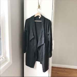 Halogen 100% Cashmere long grey duster 580A